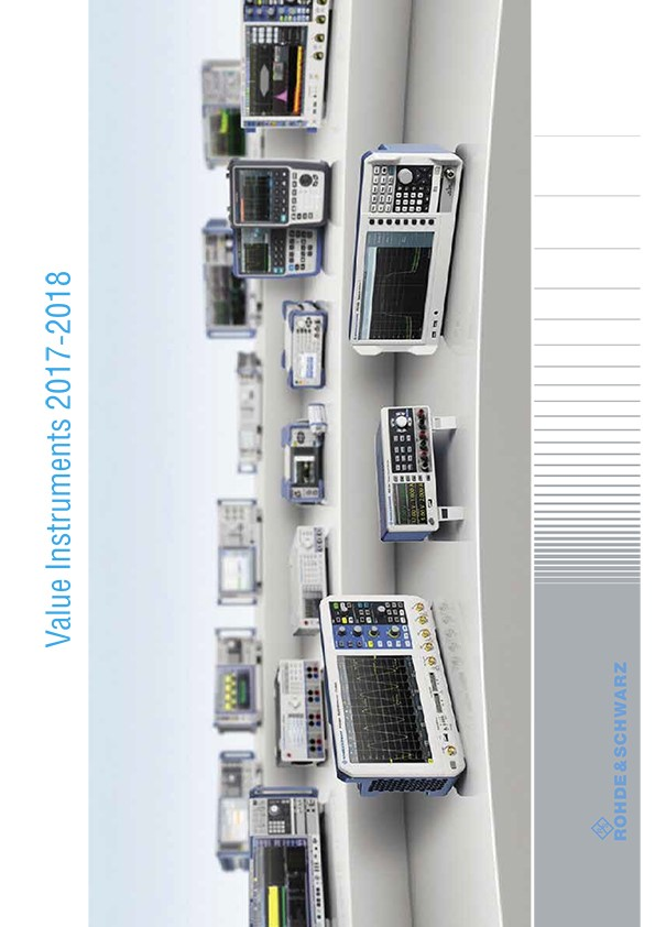 Rohde&Schwarz 2017-2018. Value Instruments